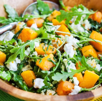 salad, butternut squash, healthy, healthy meals, recipes, healthy recipes, salad, summer salad, low calorie dressing