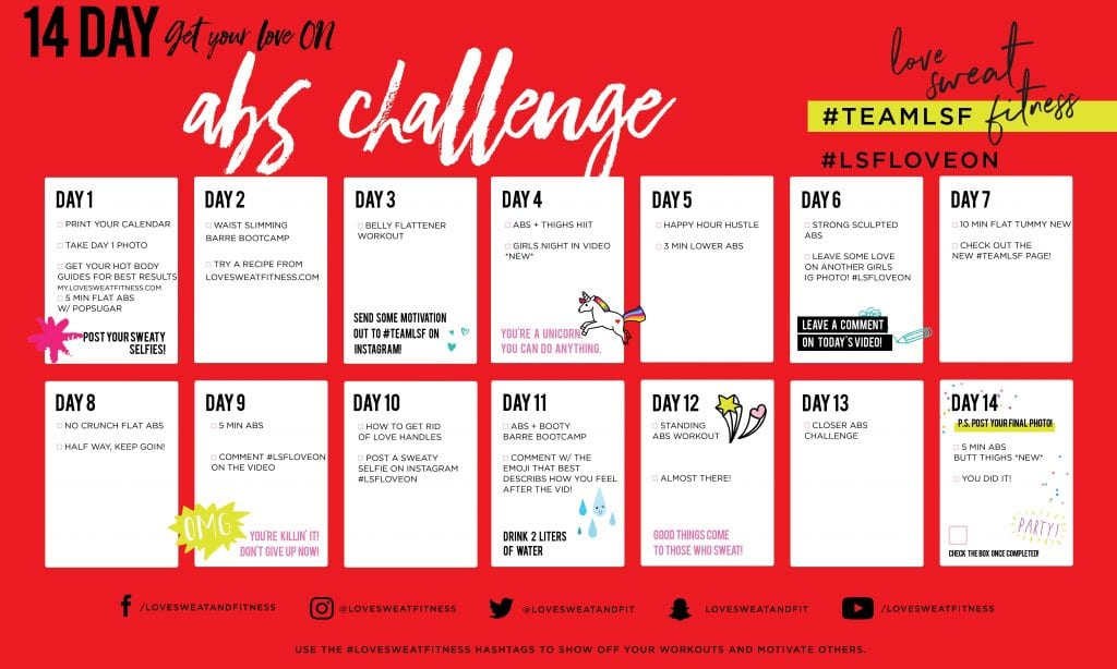 14 Day Abs Challenge