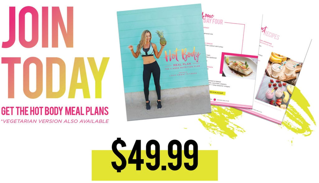 hot body 8 week workout guide and meal plan