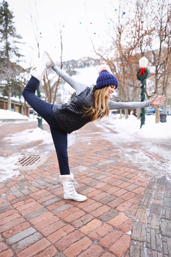 dancer in the snow