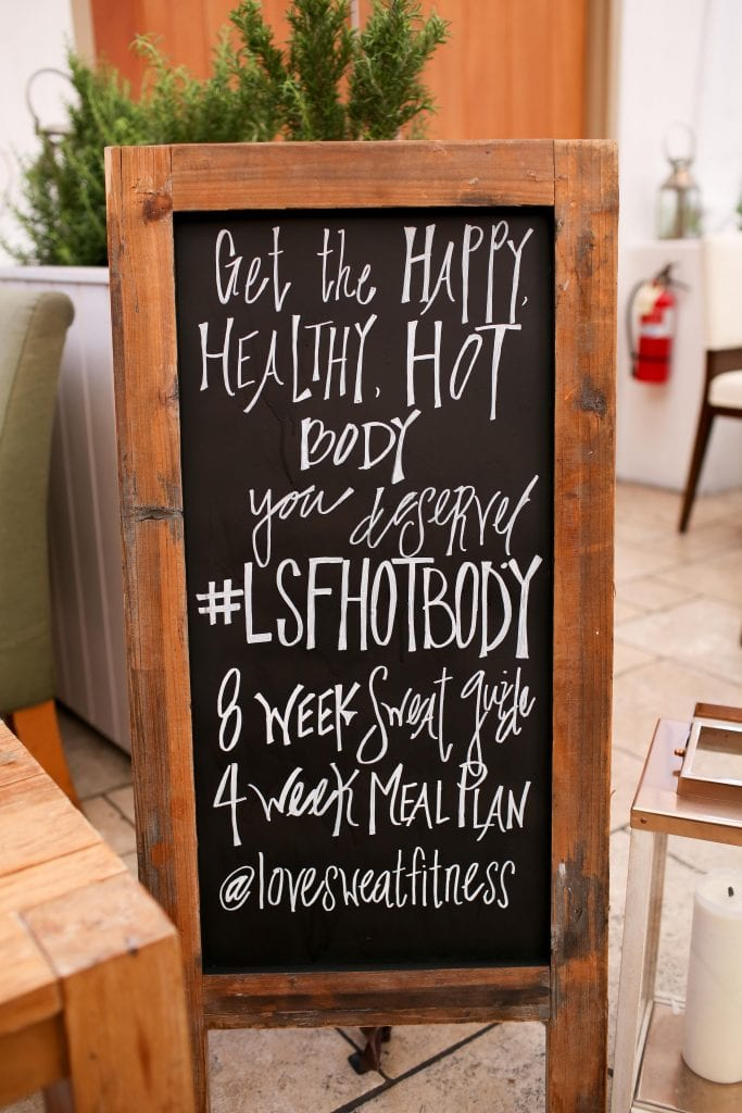 lsf hot body guides launch details on chalkboard