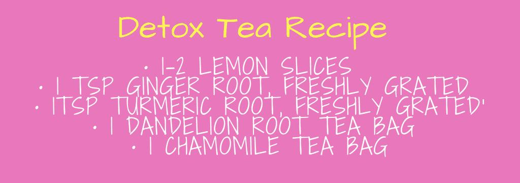 detox tea recipe, weight loss, how to lose weight, healthy detox tea