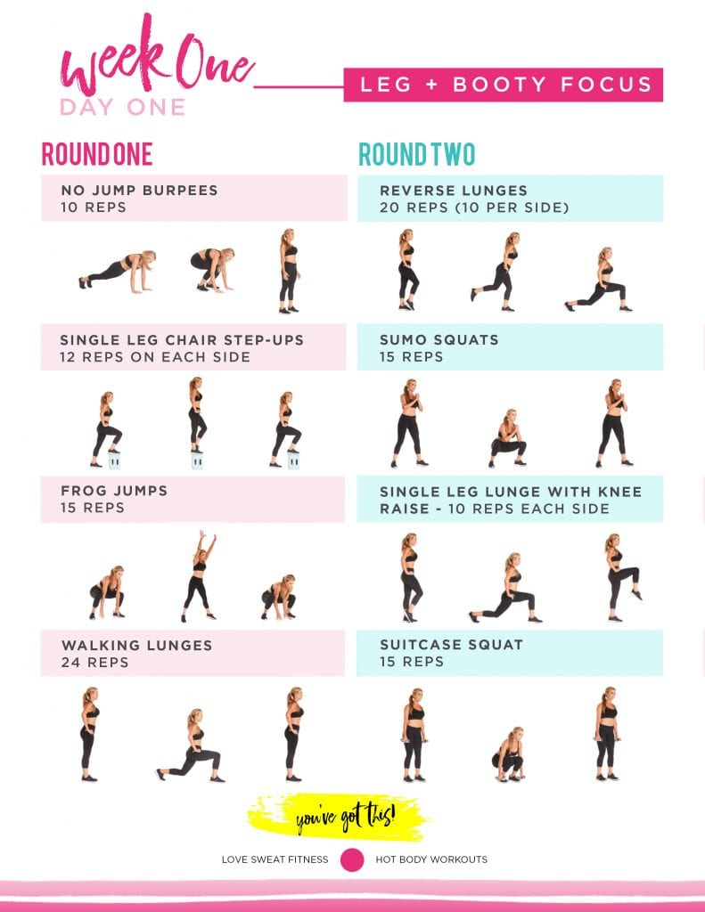 hot body sweat guide, love sweat fitness hot body sweat guide, lsf , hot body plan, workout plan