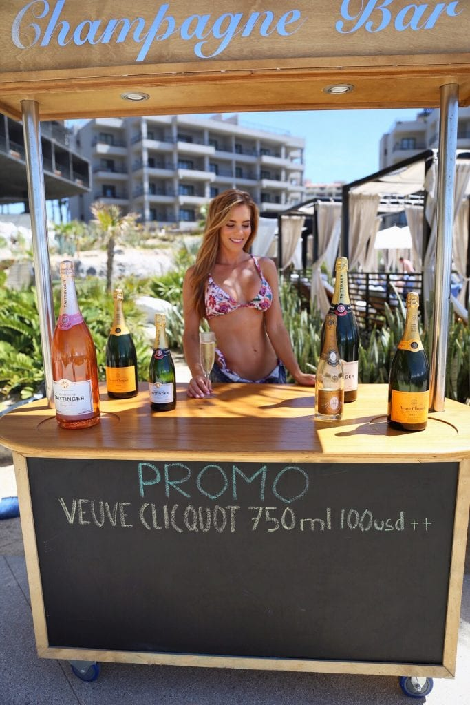 veuve bar poolside in cabo, stay fit while you travel with the bun on the run,