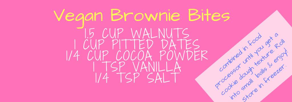 vegan brownie bites recipe