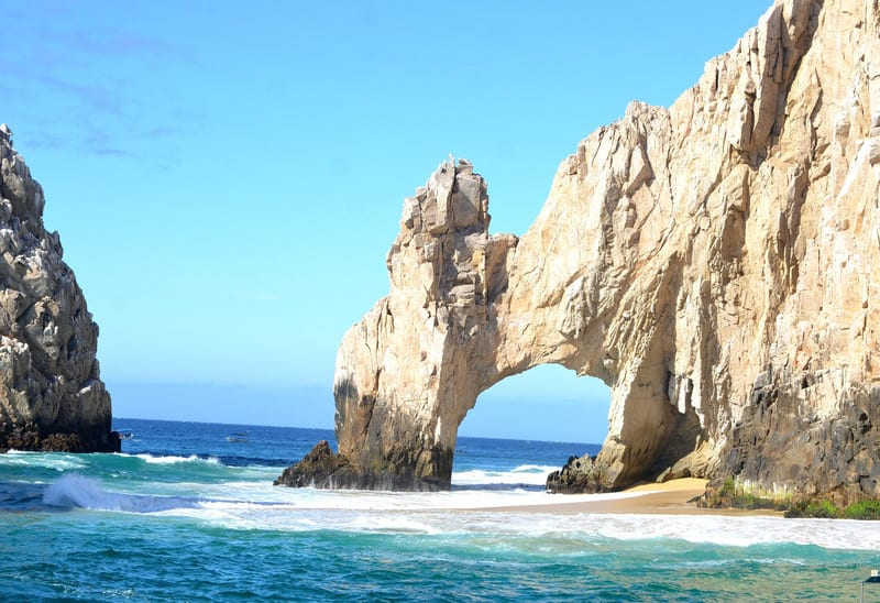 the cabo arch, traveling, how to stay fit traveling